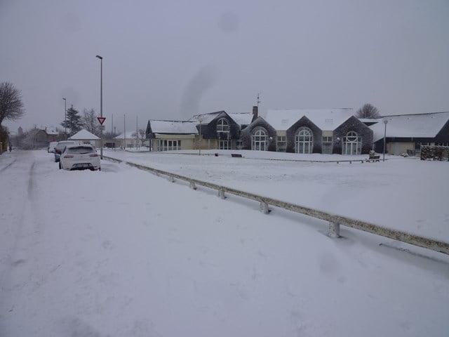 Bénouville sous la neige